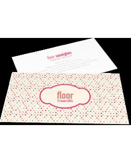 """Geboortekaartje """"Floor"""""""