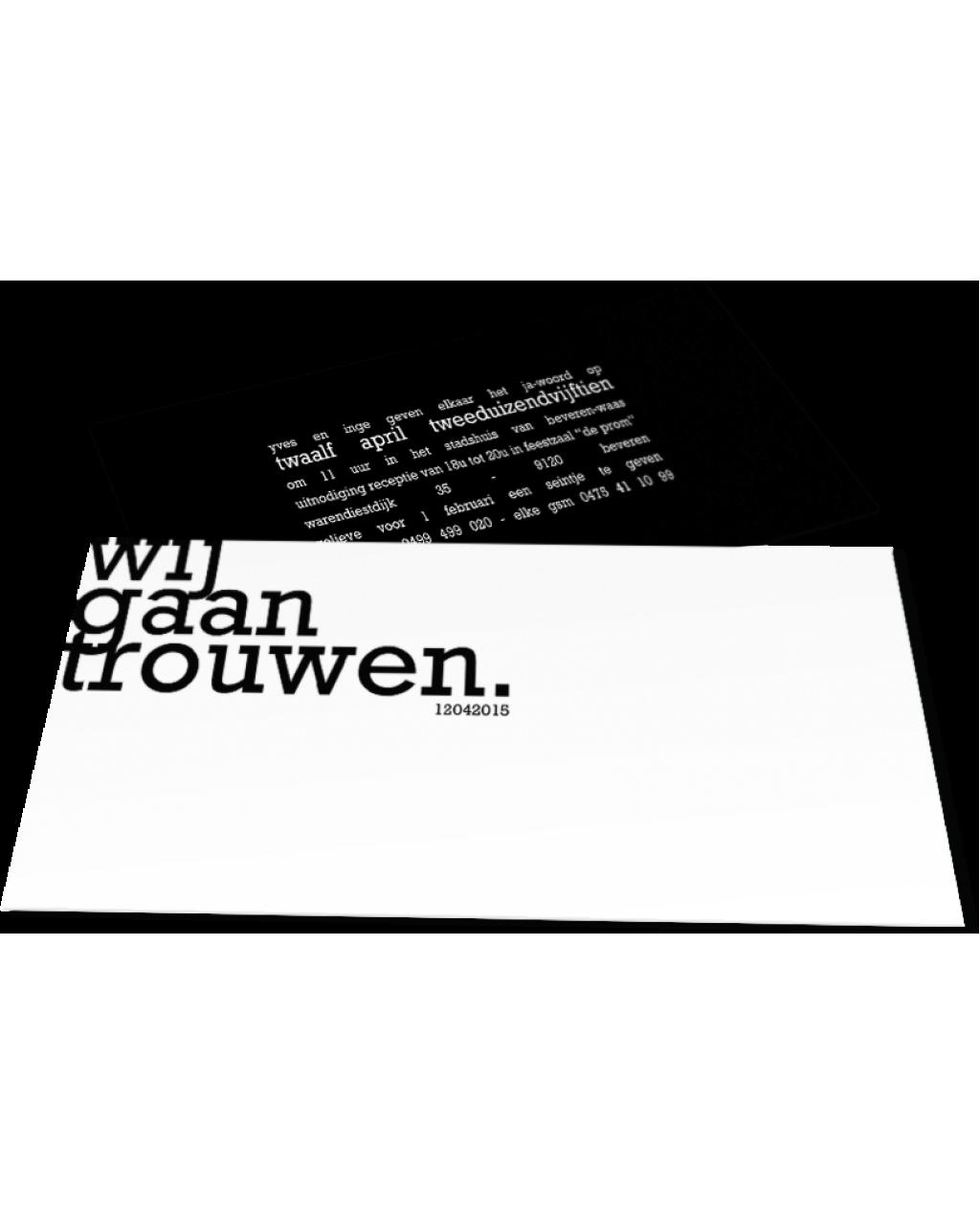 """Trouwkaart """"Yves en Inge"""""""